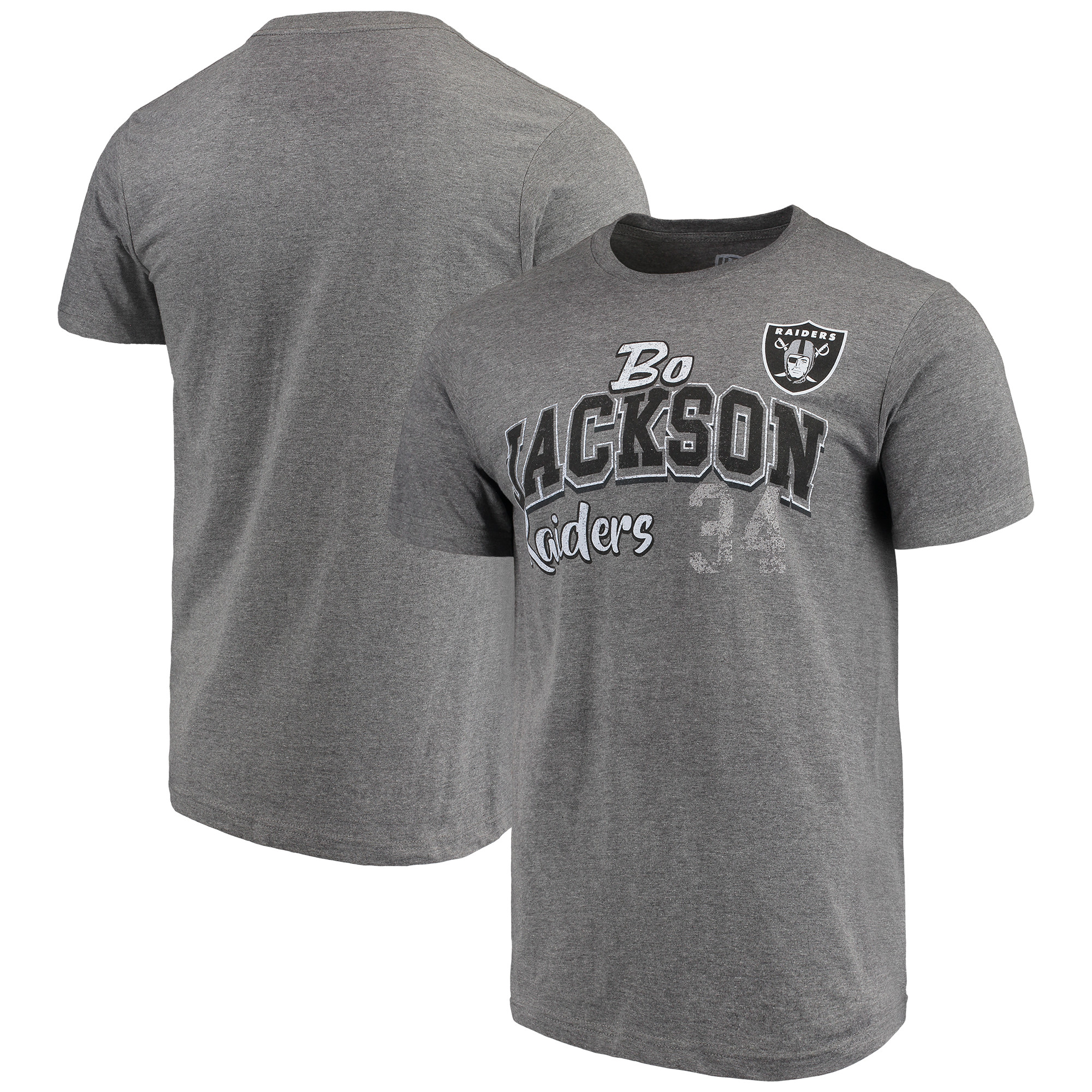 Bo Jackson Oakland Raiders G-III Sports by Carl Banks Primetime Player Name & Number - NFL Greats T-Shirt - Graphite