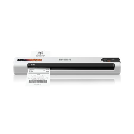 Epson RapidReceipt RR-60 Mobile Receipt and Color Document Scanner with Complimentary Receipt Management and PDF Software for PC and Mac