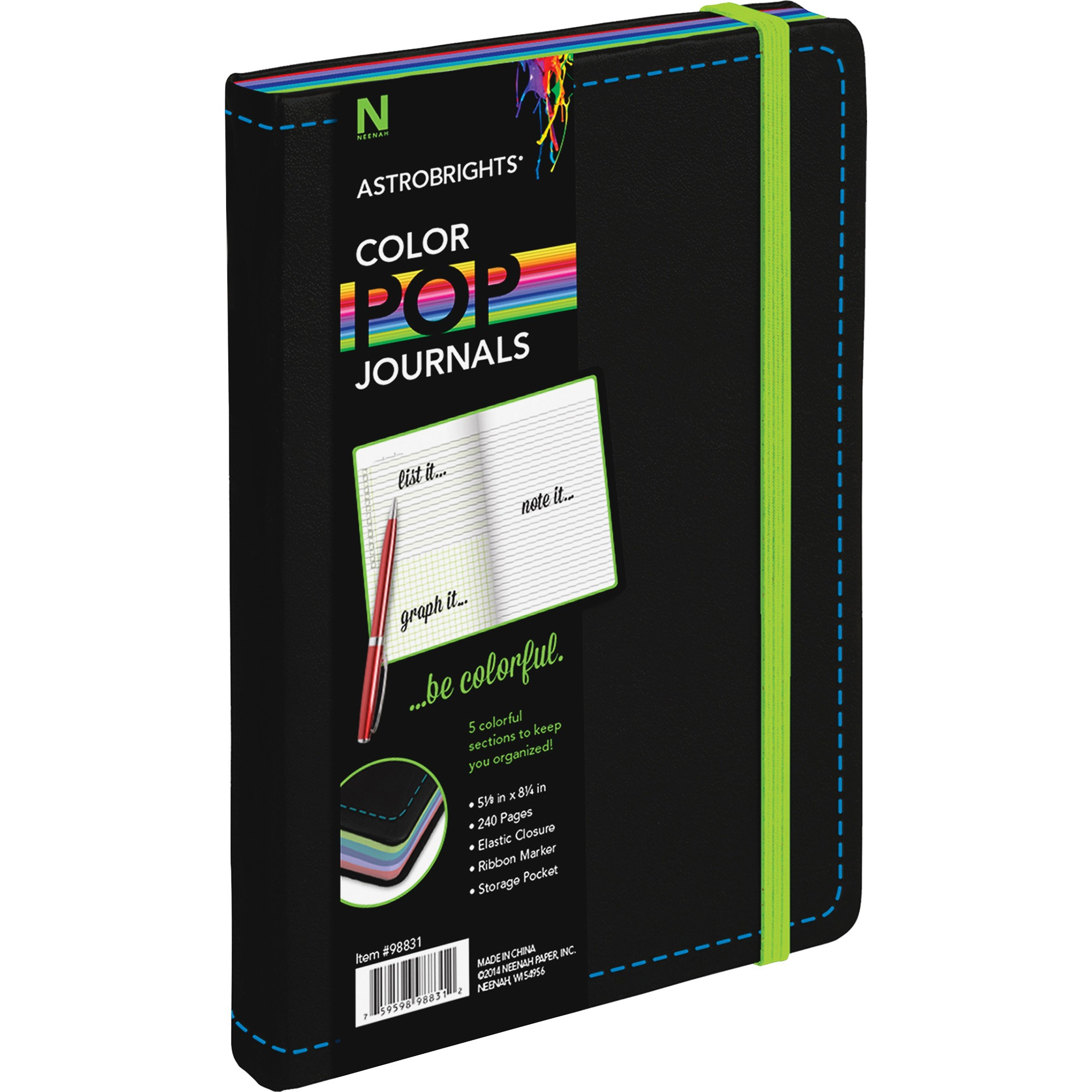Astrobrights Leatherette Journal, 240 / Each (Quantity)