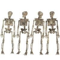 Loftus 3D Skeleton Halloween Decoration 5 ft Garland, Tan
