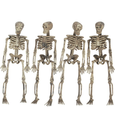Loftus 3D Skeleton Halloween Decoration 5 ft Garland, Tan