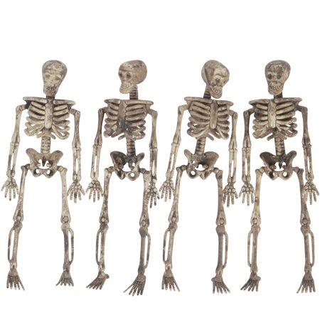 Loftus 3D Skeleton Halloween Decoration 5 Ft Garland  Tan