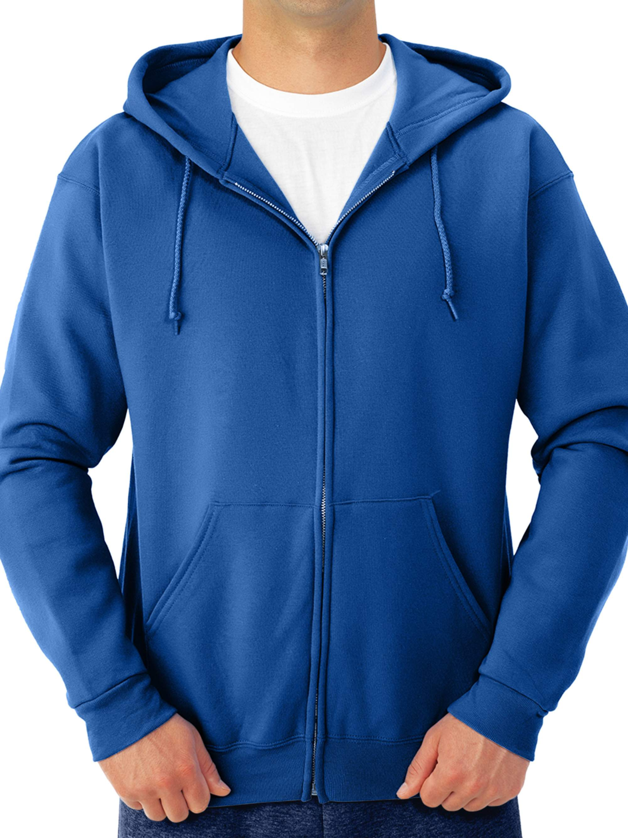 Big Men's Soft Medium-Weight Fleece Full Zip Hooded Jacket