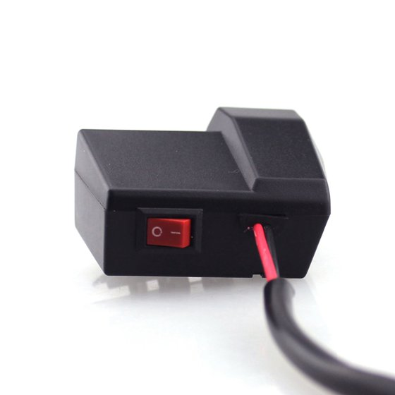 Motorcycle USB Charger with LED Digital Display Voltmeter Voltage Meter / Switch (Blue) - Walmart.com