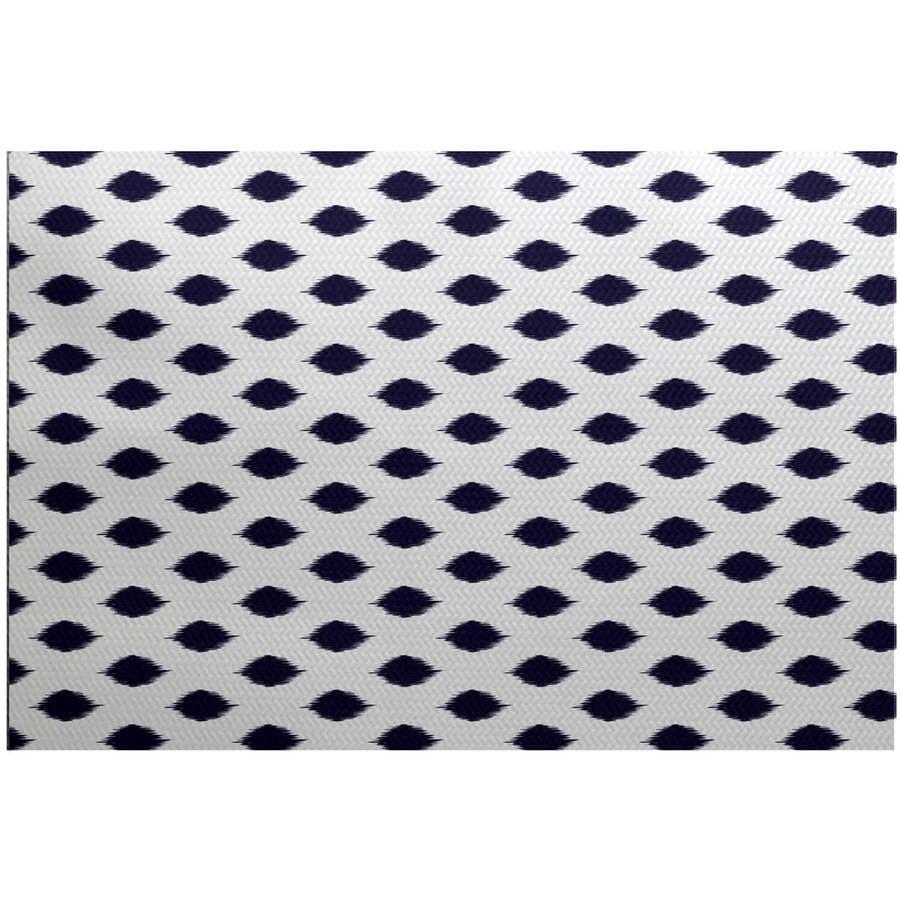 Simply Daisy 3' x 5' Cop-Ikat Geometric Print Indoor Rug