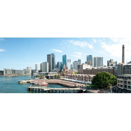 View Of Circular Quay And Downtown Skyscrapers From Roof Of Park Hyatt Hotel Sydney New South Wales Australia Canvas Art   Panoramic Images  22 X 9