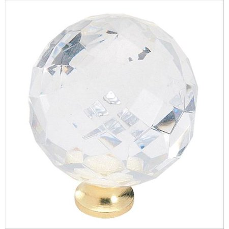 (Amerock Allison Traditional Classics Burnished Brass Crystal Knob)
