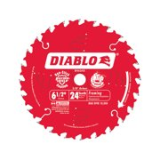 Diablo 6-1/2 Dia. x 5/8 in. Carbide Tip Titanium Framing Blade 24 teeth 1 pc.