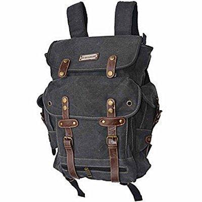 eurosport wwii black canvas backpack bag (Eurosport Canvas Backpack)