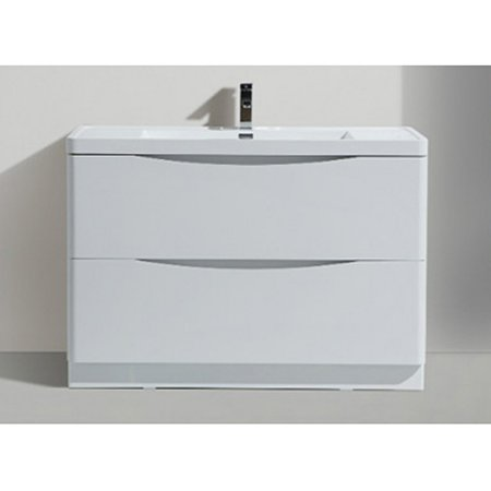 Morenobath smile 48 in free standing single sink bathroom - Walmart bathroom vanities with sink ...