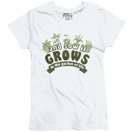 Gardening Funny Novelty Ladies And Sow It Grows Ladies T-Shirt by Garden of Weedin