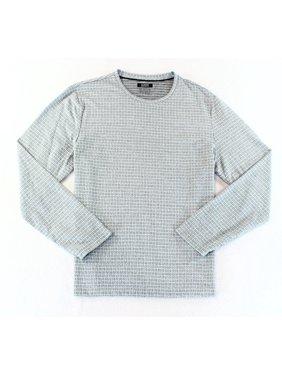 d0068526 Product Image Alfani NEW Steel Gray Mens Size Large L Dash-Box Jacquard  Regular Tee Shirt