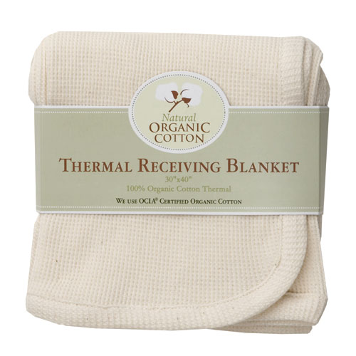 TL Care Inc. - Organic Cotton Thermal Receiving Blanket, Natural