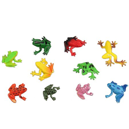 10PCS Mini Realistic PVC Plastic Animal Figures Toys Playsets Learning Education Toys Kid Gift Frogs