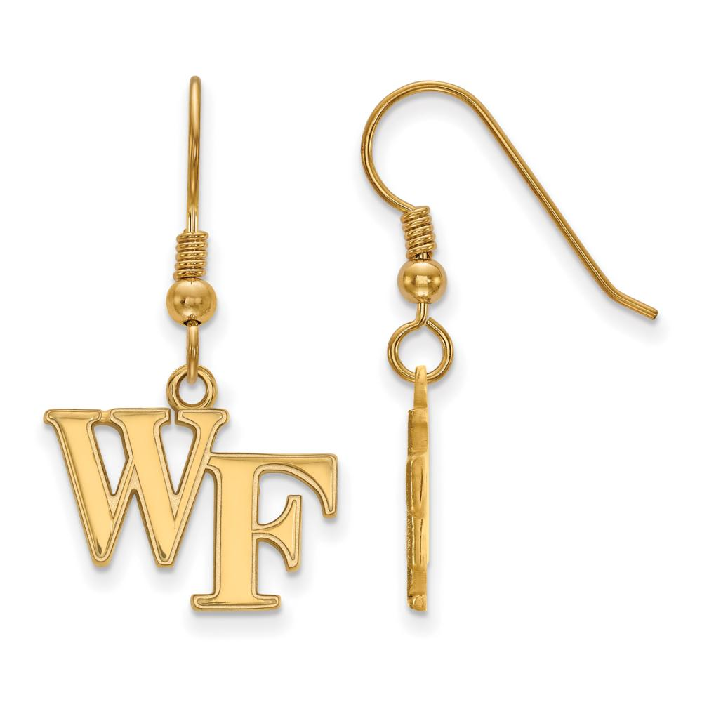Wake Forest Small (1/2 Inch) Dangle Earrings Wire (Gold Plated)
