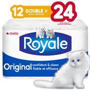 Royale 2-Ply Bathroom Tissue, 12 Double Rolls per Pack