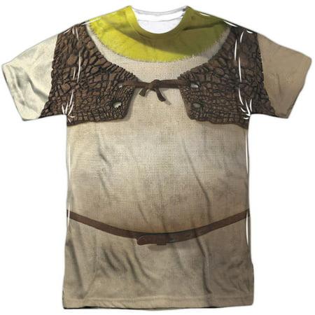 Shrek Men's  Costume Sublimation T-shirt White - Mens Sheep Costume
