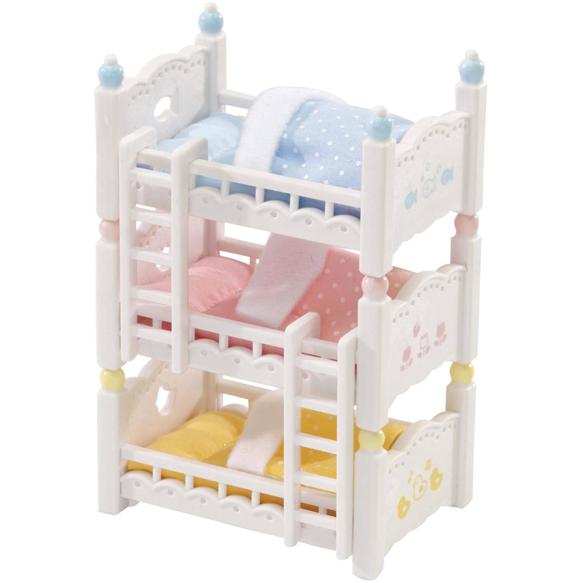 Picture of: Calico Critters Triple Baby Bunk Beds Walmart Com Walmart Com