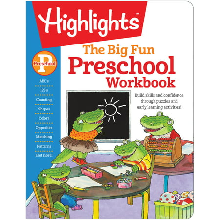 The Big Fun Preschool Workbook: Build Skills and Confidence Through Puzzles and Early Learning Activities! (Paperback) - Halloween Craft For Preschool Class