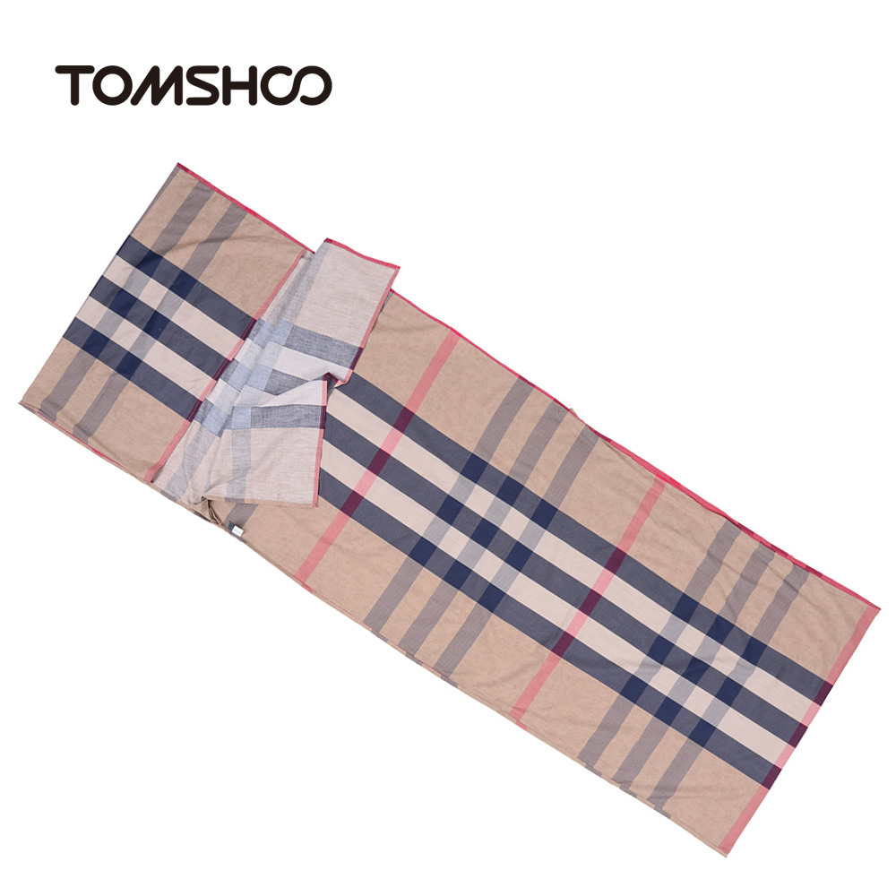 TOMSHOO 75*210CM Outdoor Travel Camping Hiking 100% Cotton Healthy Sleeping Bag Liner with Pillowcase Portable Lightweight Business Trip Hotel