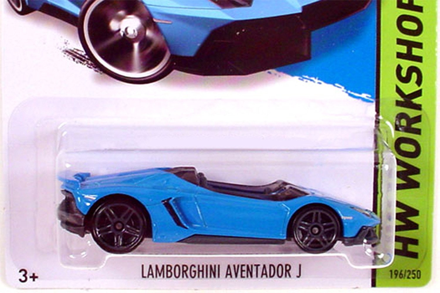 2014 Hw Workshop Lamborghini Aventador J   Blue, LAMBO AVENTADOR J Hot  Wheels 20143 HW