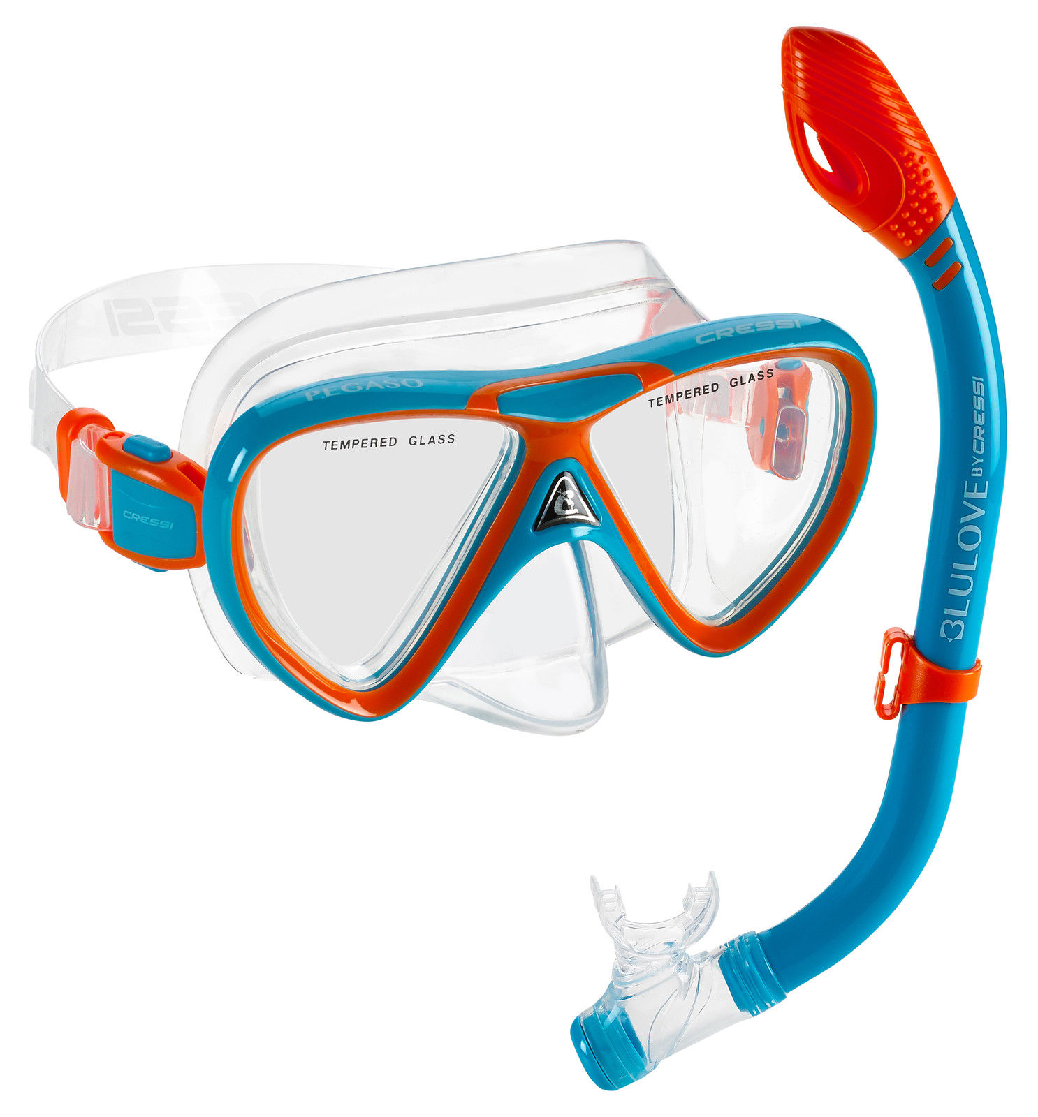 """""""Cressi DELUXE, Kids Youth Mask Snorkel Set (Lime Purple)"""" by"""