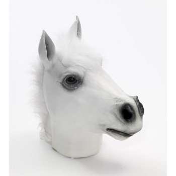 MASK-DLX LATEX-WHITE-HORSE (Horus Mask)