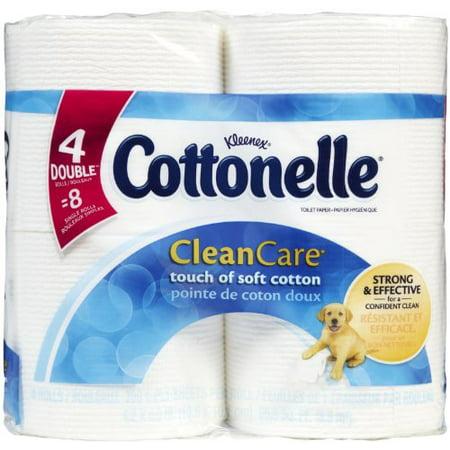 Cottonelle Clean Care Bath Tissue Double - 208 Sheets 8 Pack