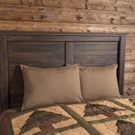 Evergreen Green Seasonal Bedding Sequoia Cotton Plaid Standard Sham (Plaid Standard Sham)