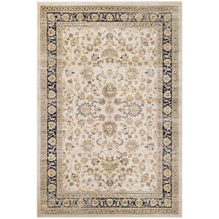 Couristan Zahara Farahan Amulet Rug In Oatmeal Rug In Black - (9 Foot 2 Inch x 12 Foot 5 Inch)