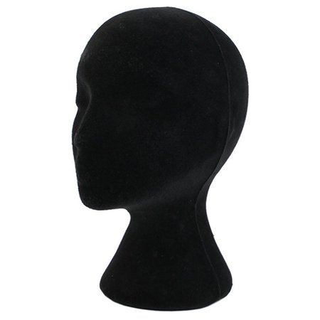 Obstce Female Styrofoam Foam Mannequin Manikin Head Model Wigs Glasses Display Stand ()