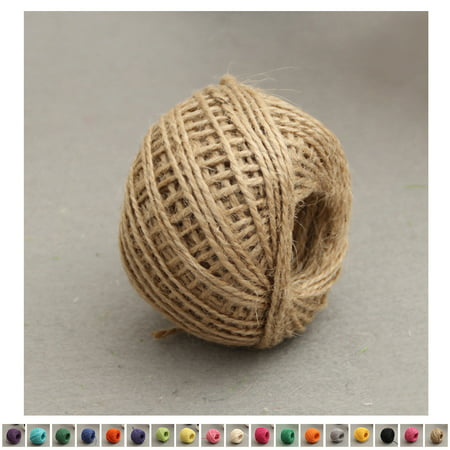 Holiday Clearance 50m Natural Jute Twine 2mm Hemp Cord Jute Rope String Gift Twine Industrial Packing Materials Arts Crafts Gardening - Hemp Twine 6 Strand