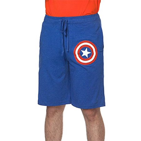 Captain America Footie Pajamas (Captain America Marvel Shield Blue Lounge Sleep Pajama)