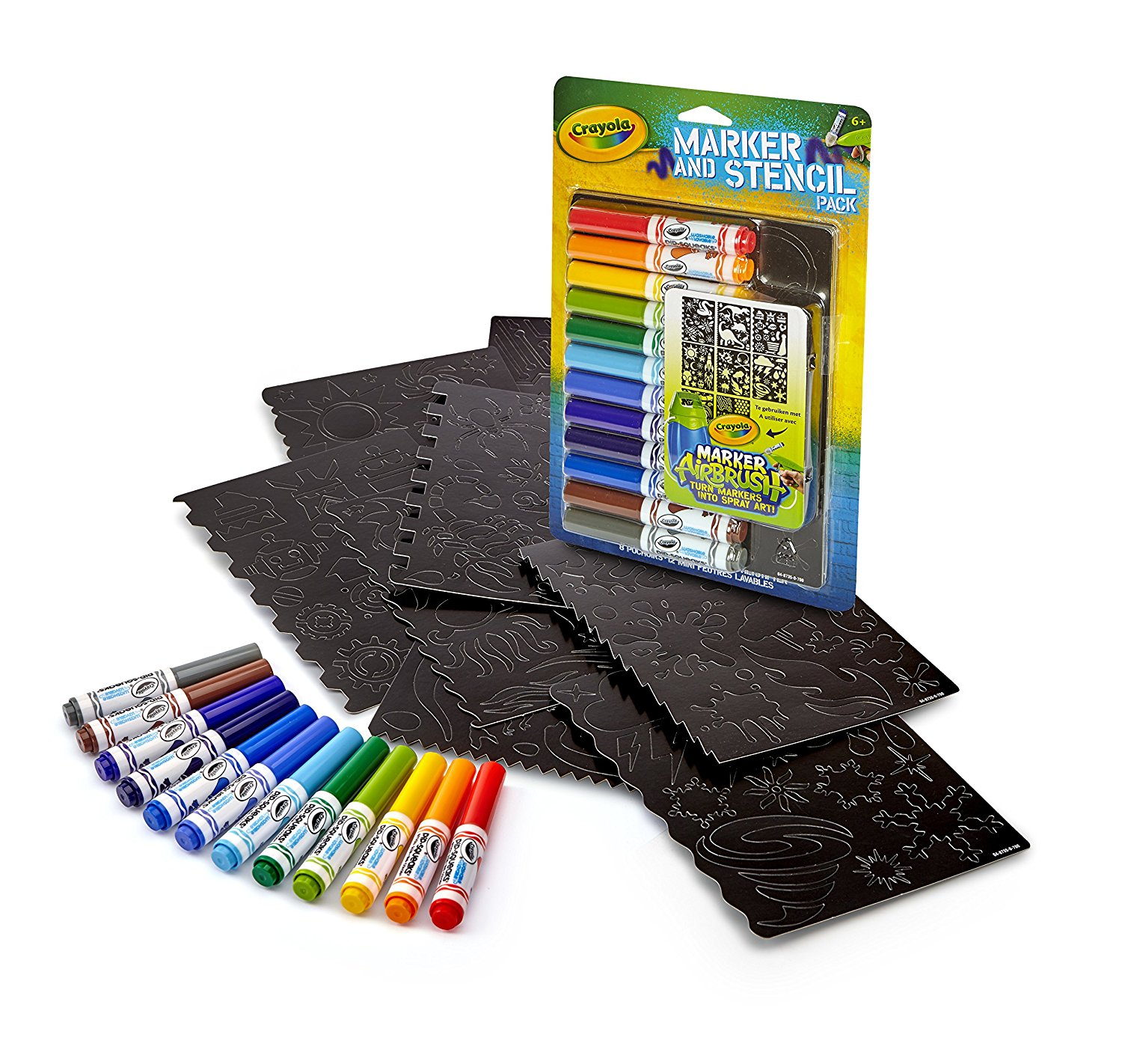 Crayola Airbrush Marker and Stencil Pack