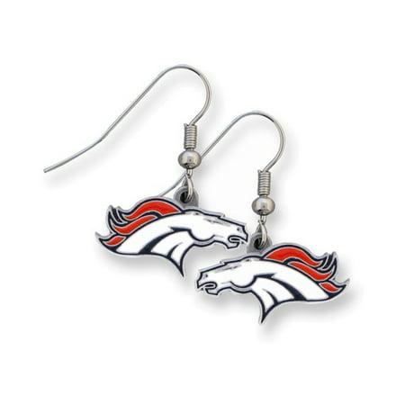 Siskiyou Sport Earrings (NFL Broncos Enameled Zinc Dangle Earrings)