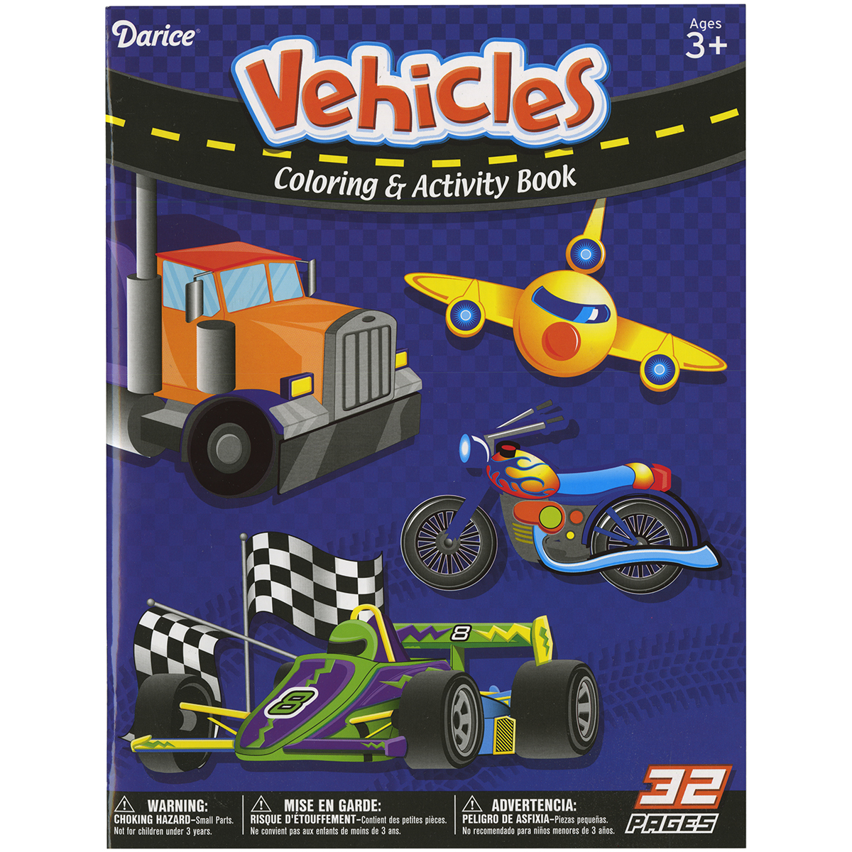 Darice Coloring Book-Vehicles