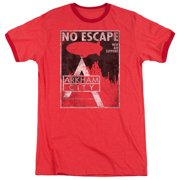 Arkham City No Escape Mens Adult Heather Ringer Shirt