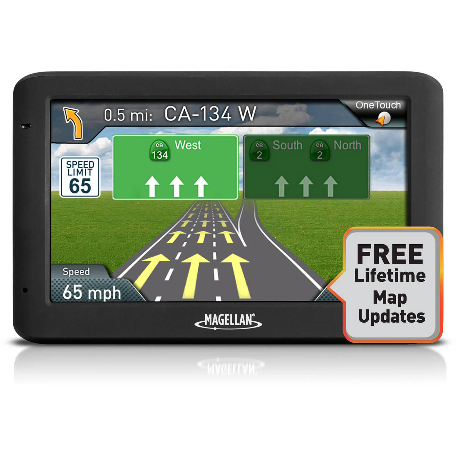 "Refurbished Magellan RoadMate 5520-LM 5"" Touch Portable Car GPS System w/ Free Lifetime Maps"