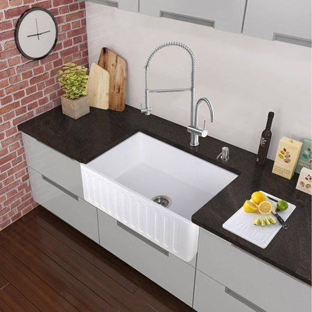 Stone Farmhouse Kitchen Sinks : Vigo All-in-One 36