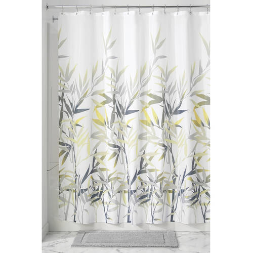 "InterDesign Anzu Fabric Shower Curtain, Standard 72"" x 72"", Black/Tan"