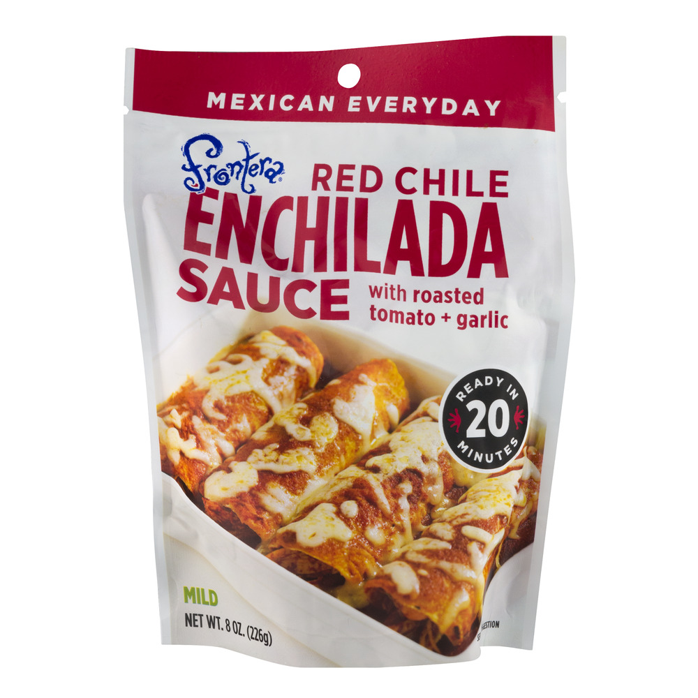 Frontera Red Chili Enchilada Sauce with Roasted Tomato & Garlic, 8.0 OZ