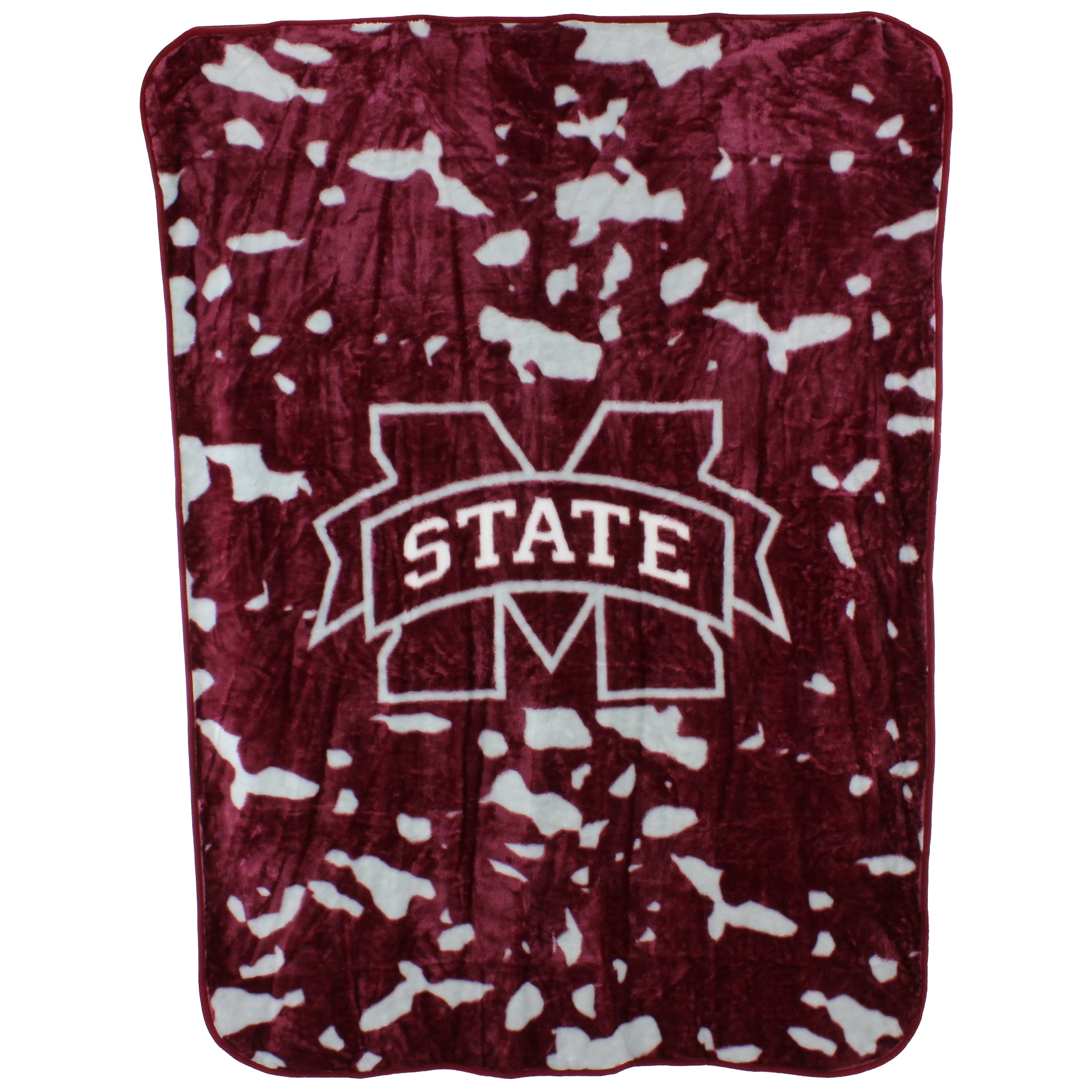 """College Covers Fan Shop Throws Mississippi State Bulldogs 63"""" x 86"""" Soft Raschel Throw Blanket"""