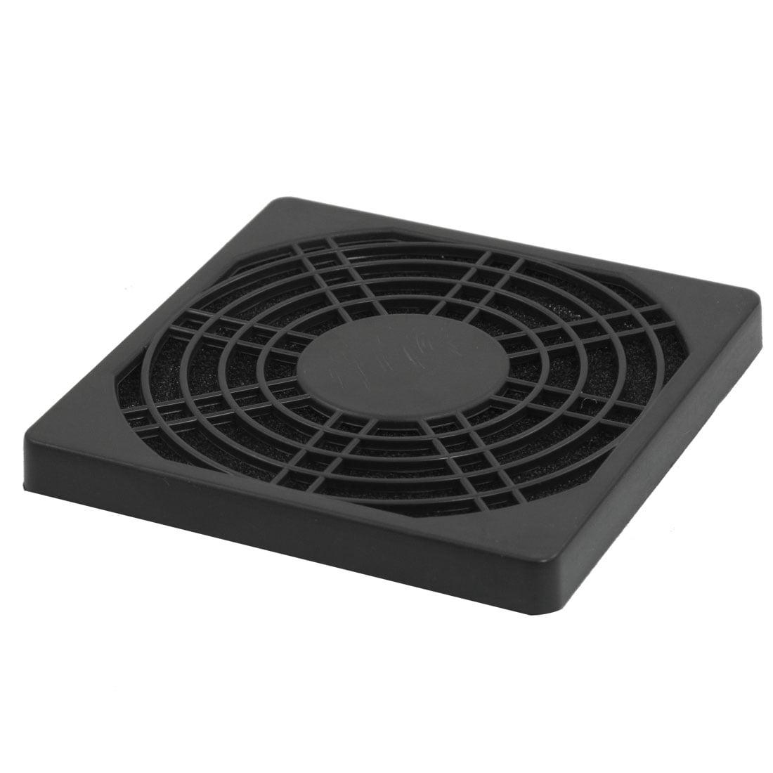Unique Bargains Computer Laptop Black Plastic Washable 90mm Dust Aid Shield Filter