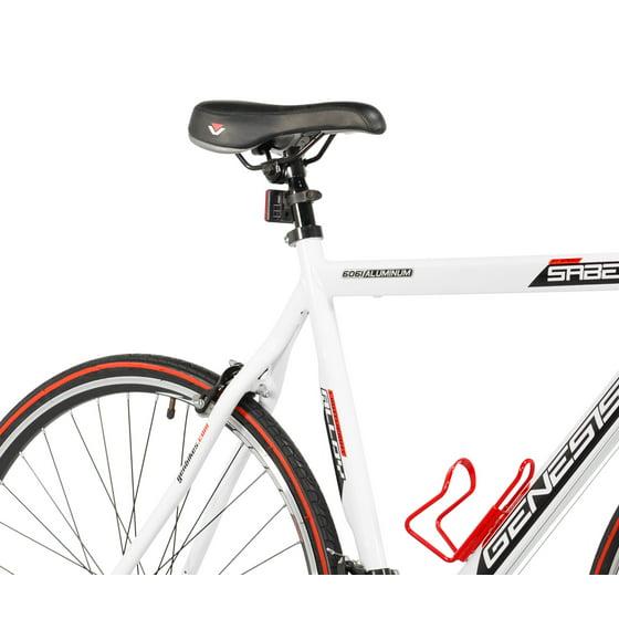 Genesis 700c Saber Men's Bike, White, For Height Sizes 5'4