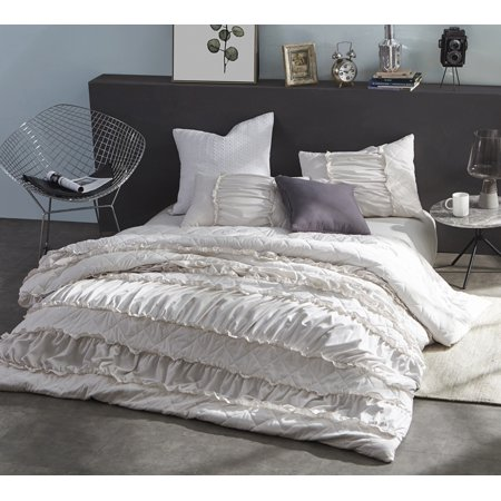 BYB Ruffle Pleats Duvet Cover - Jet Stream