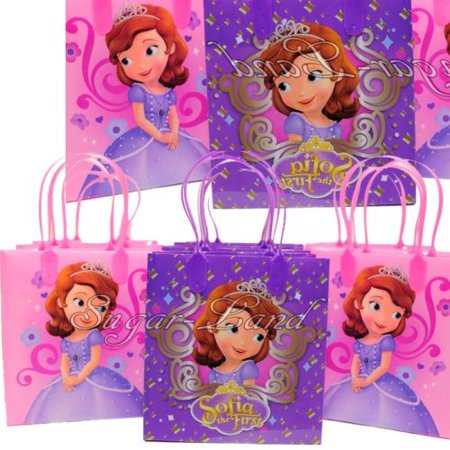 12 Sofia the First Party Favor Bags Birthday Candy Treat Favors Gifts Plastic Bolsas De Recuerdo - Sophia The First Party