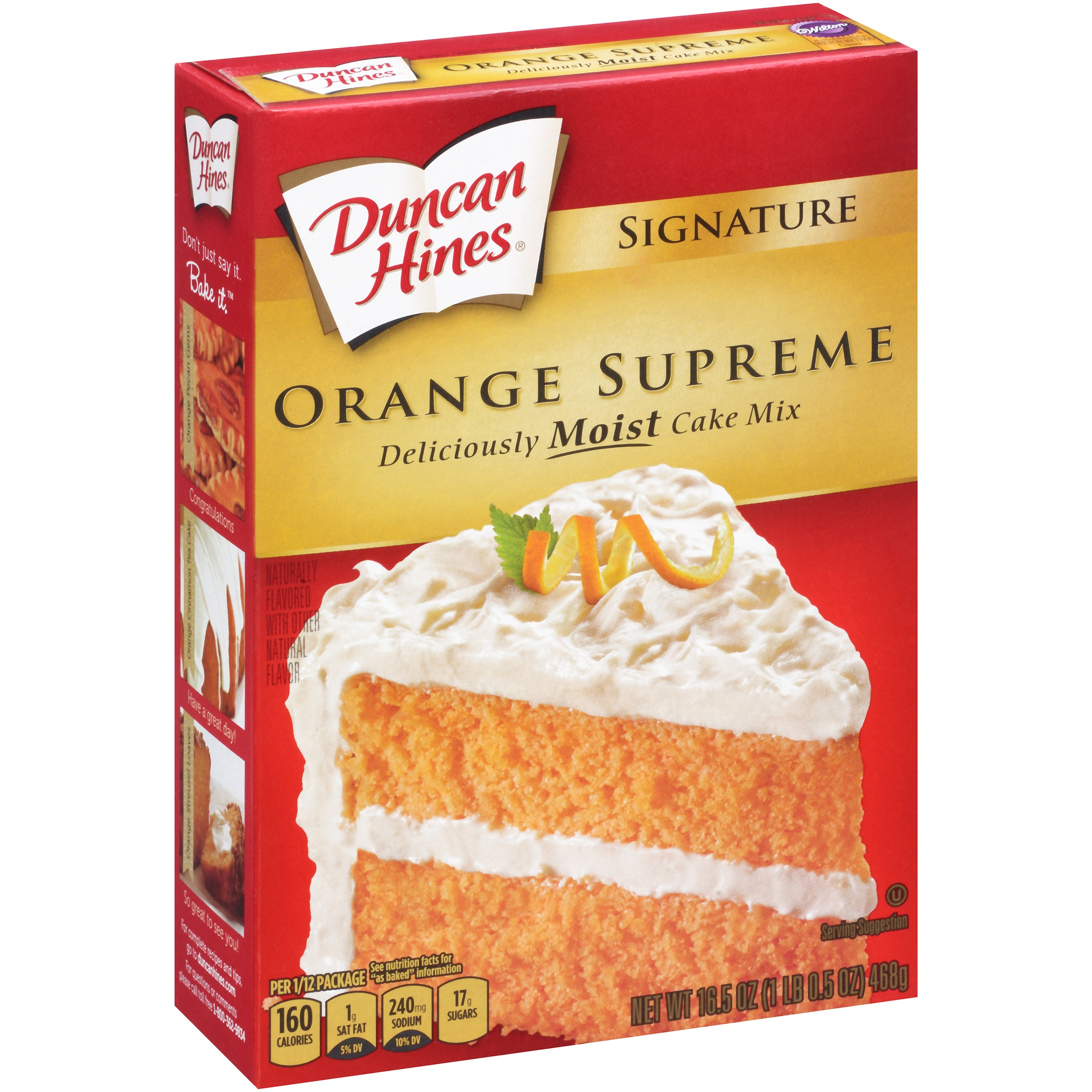duncan hines yellow cake mix duncan hines moist deluxe orange supreme cake mix 18 25 3776