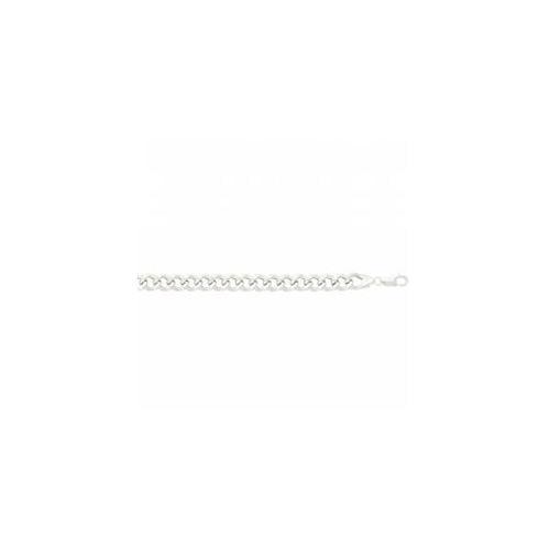 SS-71-000-08 8 inch Anti-Tarnish Sterling Silver Lite Curb Link Bracelet