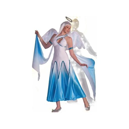 Haunted Ballroom Blue & White Angel Dress Costume Adult X-Small/Small (Ballroom Costumes)