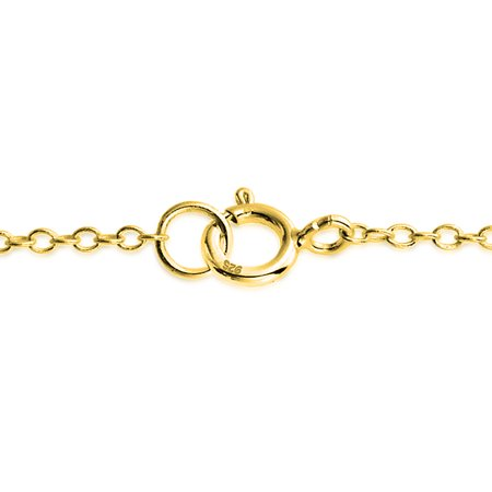 5183a85cf3e Simple Plain Bar And Link Chain Anklet Charm Ankle Bracelet For Women 14K  Gold Plated 925 ...
